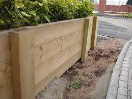 timber retaining walls cairns
